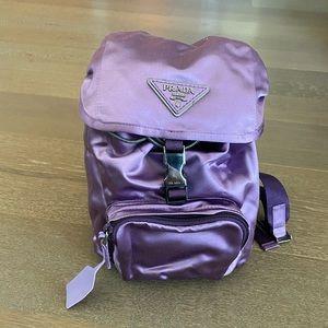 Prada mini purple backpack
